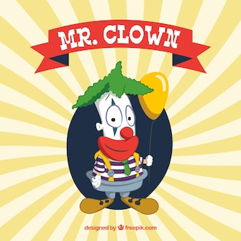 Mr divertente. clown