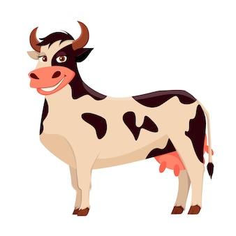 Mucca carina, animale da fattoria.