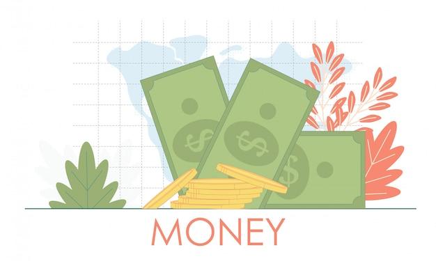 Mucchio di banconote da un dollaro isolato su sfondo bianco con posto per il vostro testo