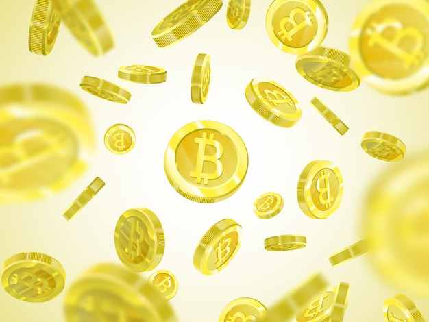 Mucchio di bitcoin gialli