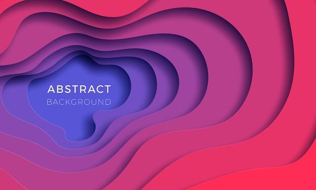 Multi-strato colorato sfondo realistico papercut.