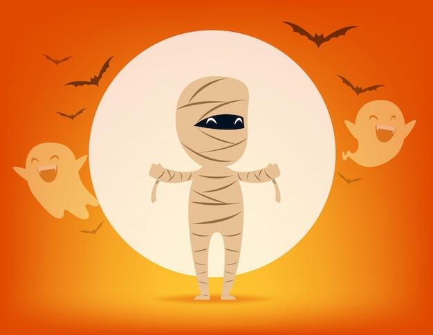 Mummia carina. concetto di costume di halloween