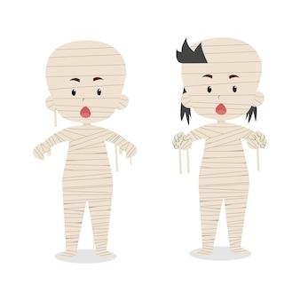 Mummia di personaggi simpatici bambini