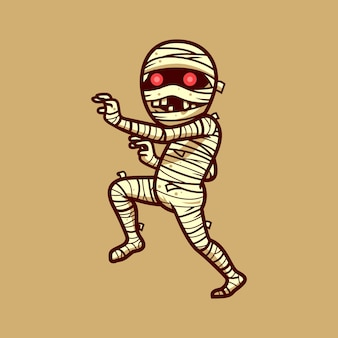 Mummia personaggio di halloween