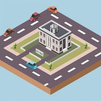 Municipio in una città