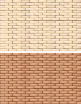 Muri di mattoni in due tonalità di marrone