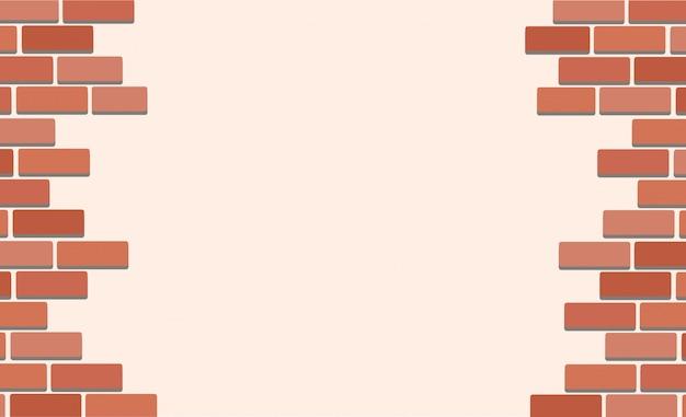 Muro di mattoni e lo spazio di fondo