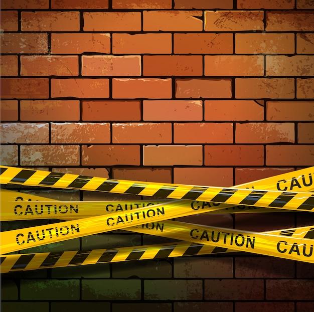 Muro di mattoni in costruzione