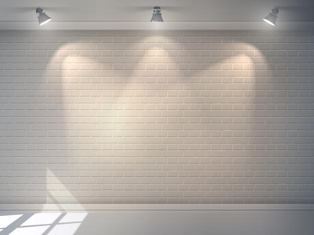 Vernice muro pittura fuori un muro nudo con un rullo di vernice
