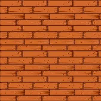 Muro di mattoni rossi senza soluzione di continuità