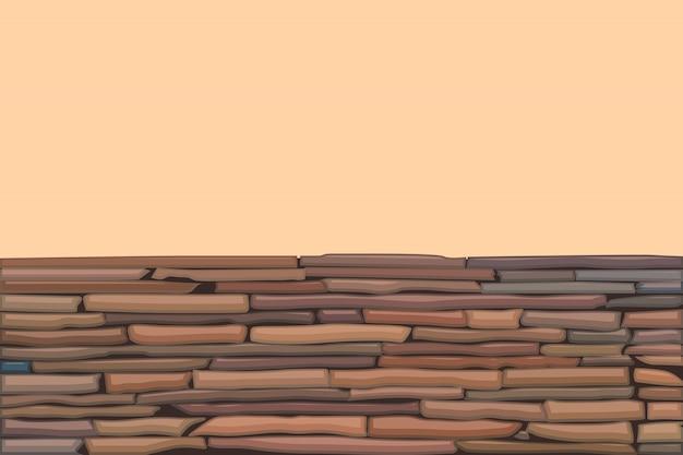 Muro di pietra colorata