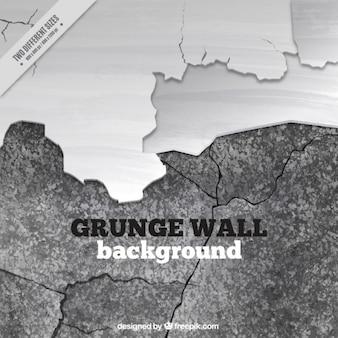 Muro rotto in bianco e nero