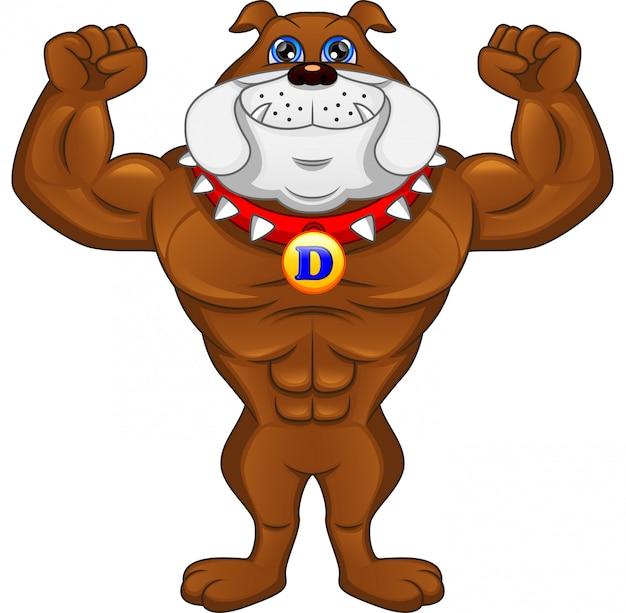 Muscle bulldog inglese dei cartoni animati