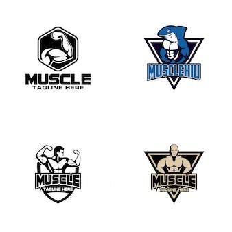 Muscle logo design