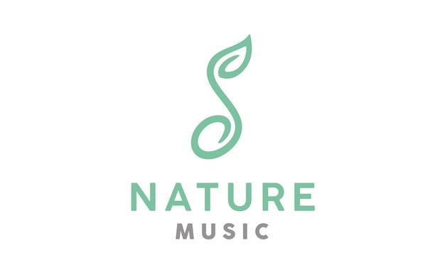 Music nature logo design