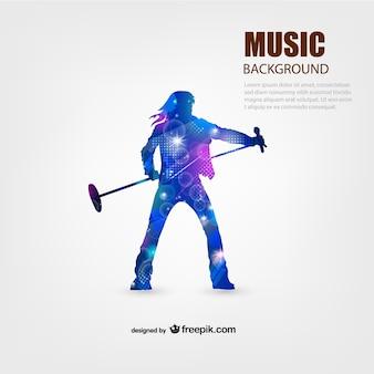 Music performer vettore sfondo