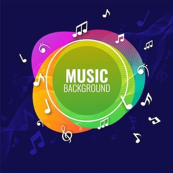Musica di sottofondo con note musicali.