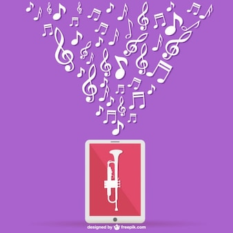 Musica mobile vettore