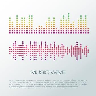 Musica onde infografica colorata
