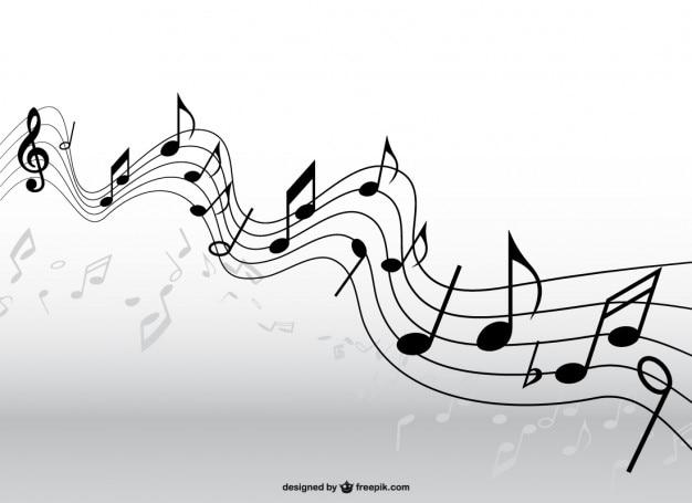Musica pentagramma vettore