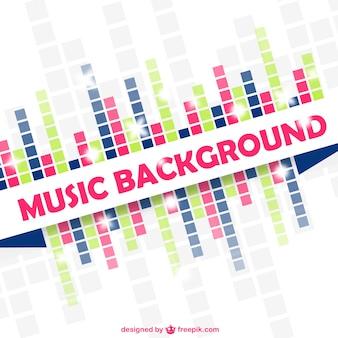 Musica vettore equalizzatore design colorato