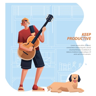 Musicista productive form home
