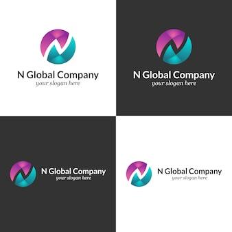 N logo template