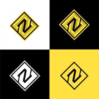N modello logo sport iniziale