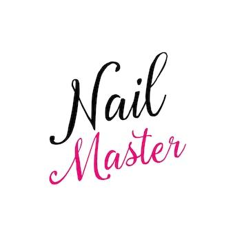 Nail calligraphic inscription