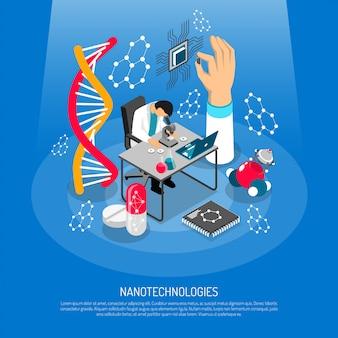 Nano technologies composizione isometrica