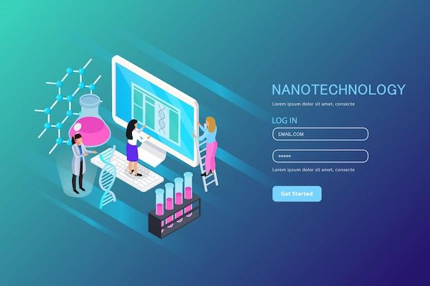 Nano technology composizione isometrica