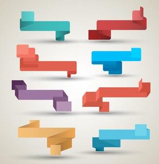 Nastri collezione origami stile moderno