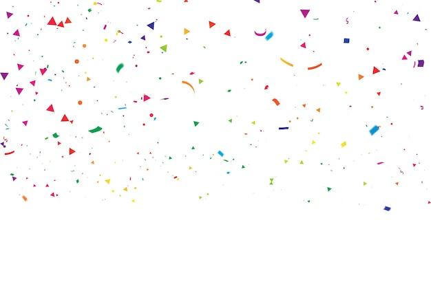 Nastri colorati di carnevale celebrazione coriandoli.