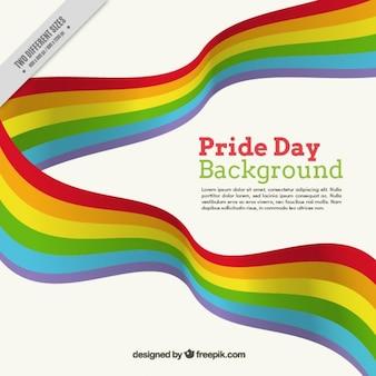 Nastri colorati orgoglio sfondo giorno