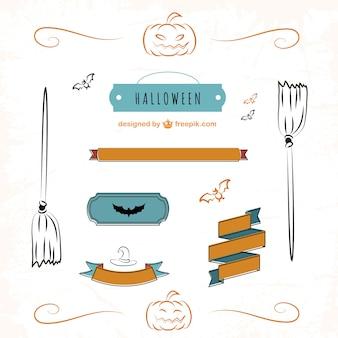 Nastri ed etichette di disegno set halloween