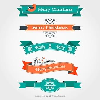 Nastri natalizi turchesi e arancioni