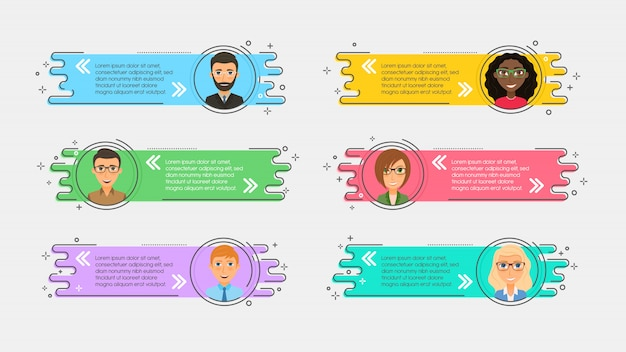 Nastri promozionali lineari piatti con avatar e preventivo