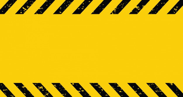 Nastro cautela nero e giallo. sfondo vuoto avviso.