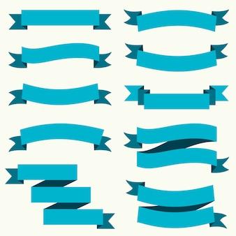 Nastro colorato e banner design