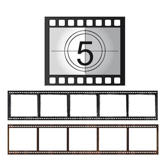 Nastro di film isolato su sfondo bianco vettoriale