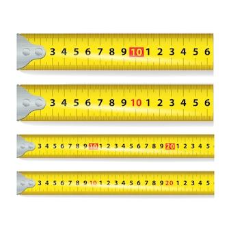 Nastro giallo di misura