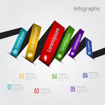 Nastro grafico informazioni vettoriale
