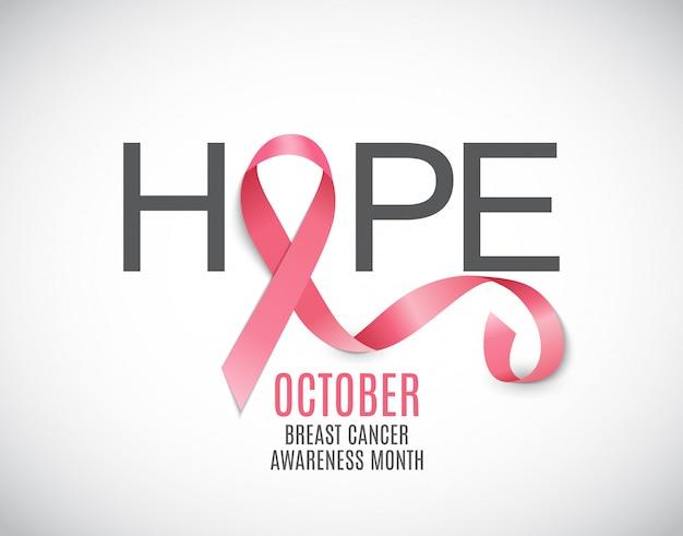 Nastro rosa di mese di consapevolezza del cancro al seno