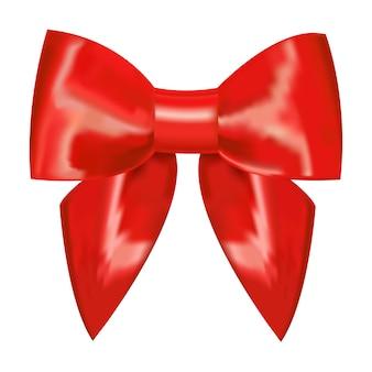 Nastro rosso con fiocco su uno sfondo bianco.