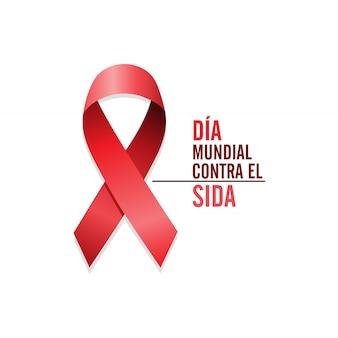 Nastro rosso consapevolezza aids