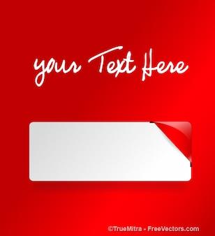 Nastro rosso messaggio striscione angolo