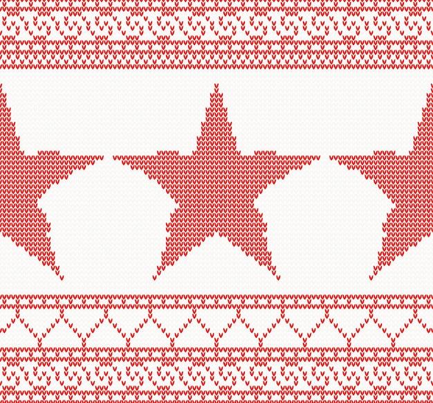 Natale a maglia con stella.