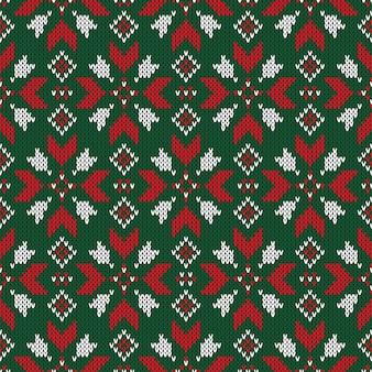 Natale a maglia senza cuciture.