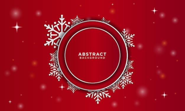 Natale astratto con neve e illuminazione incandescente