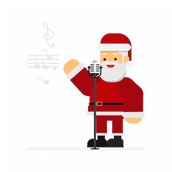 Natale babbo natale cantando canti di natale